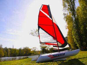 Catamaran gonflable occasion MiniCat 420 1
