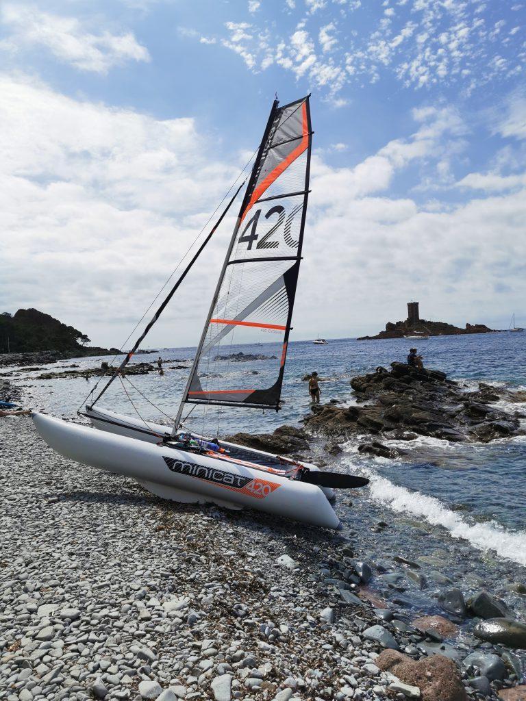 Catamaran gonflable MiniCat 420 EVOQUE occasion