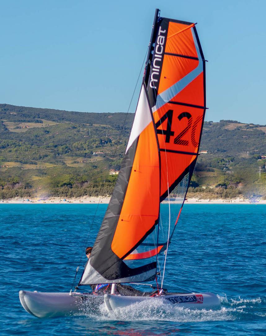 catamaran gonflable minicat 420 Instinct