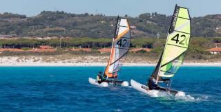 catamaran gonflable minicat 420
