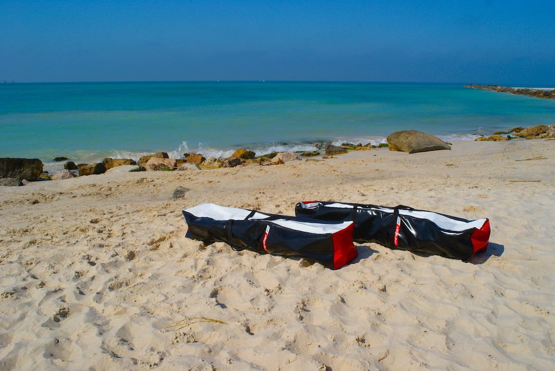 catamaran gonflable minicat 420 sacs